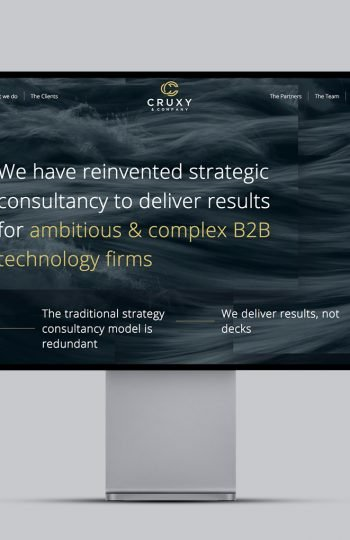 Cruxy website homepage design
