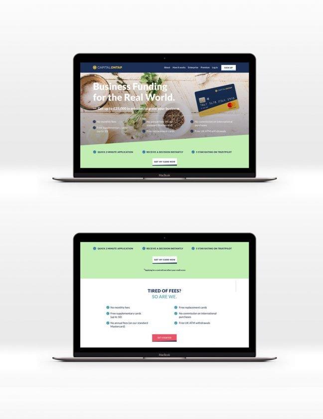 Capital OnTap website 1